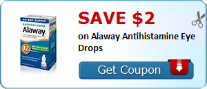 Save $2 on Alaway Antihistamine Eye Drops