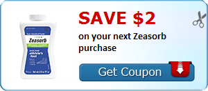 Save $2.00 on your next Zeasorb purchase