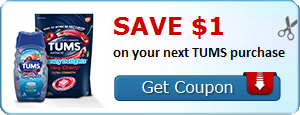 Save $1.00 on your next TUMS purchase