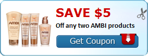 Save $5.00 Off any two AMBI products