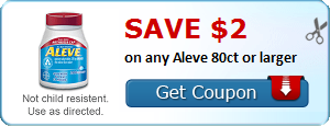 Save $2.00 on any Aleve 80ct or larger