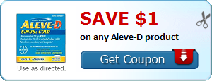 Save $1.00 on any Aleve-D product