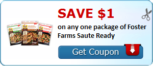 Save $1.00 on any one package of Foster Farms Saute Ready