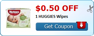 $0.50 off 1 HUGGIES Wipes