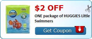 $2.00 off ONE package of HUGGIES Little Swimmers