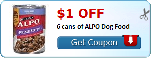 $1.00 off 6 cans of ALPO Dog Food