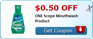 $0.50 off ONE Scope Mouthwash Product