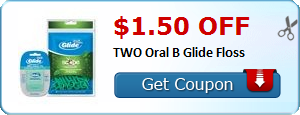 $1.50 off TWO Oral B Glide Floss