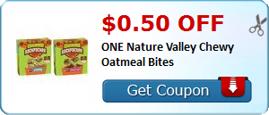 $0.50 off ONE Nature Valley Chewy Oatmeal Bites