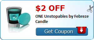 $2.00 off ONE Unstopables by Febreze Candle