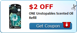 $2.00 off ONE Unstopables Scented Oil Refill