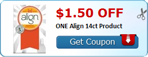 $1.50 off ONE Align 14ct Product