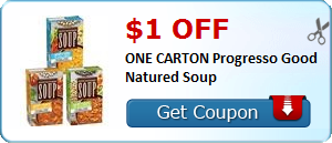 $1.00 off ONE CARTON Progresso Good Natured Soup