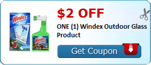 $2.00 off ONE (1) Windex Outdoor Glass Product