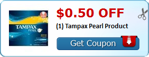 $0.50 off (1) Tampax Pearl Product