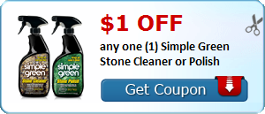 $1.00 off any one (1) Simple Green Stone Cleaner or Polish
