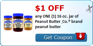 $1.00 OFF any ONE (1) 16 oz. jar of Peanut Butter & Co.® brand peanut butter
