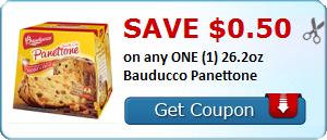 Save $0.50 on any ONE (1) 26.2oz Bauducco Panettone
