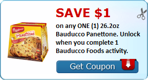 Save $1.00 on any ONE (1) 26.2oz Bauducco Panettone. Unlock when you complete 1 Bauducco Foods activity.