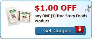 $1.00 OFF any ONE (1) True Story Foods Product