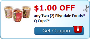 $1.00 OFF any Two (2) Ellyndale Foods® Q Cups™