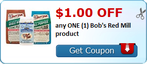 $1.00 OFF any ONE (1) Bob's Red Mill product
