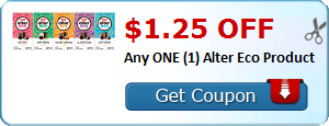 $1.25 OFF Any ONE (1) Alter Eco Product
