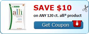 SAVE $10.00 on ANY 120 ct. alli® product