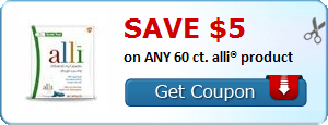 SAVE $5.00 on ANY 60 ct. alli® product