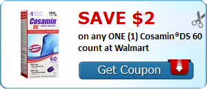 Save $2.00 on any ONE (1) Cosamin®DS 60 count at Walmart
