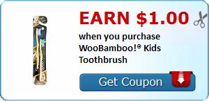 Earn $1.00 when you purchase WooBamboo!® Kids Toothbrush
