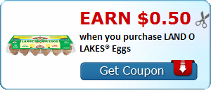 Earn $0.50 when you purchase LAND O LAKES® Eggs