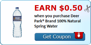 Earn $0.50 when you purchase Deer Park® Brand 100% Natural Spring Water