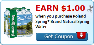 Earn $1.00 when you purchase Poland Spring® Brand Natural Spring Water