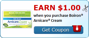Earn $1.00 when you purchase Boiron® Arnicare® Cream