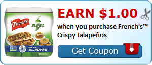 Earn $1.00 when you purchase French's™ Crispy Jalapeños