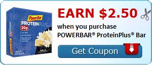Earn $2.50 when you purchase POWERBAR® ProteinPlus® Bar