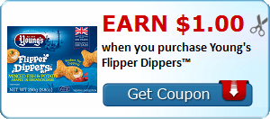 Earn $1.00 when you purchase Young's Flipper Dippers™