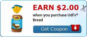 Earn $2.00 when you purchase Udi's® Bread