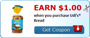 Earn $1.00 when you purchase Udi's® Bread