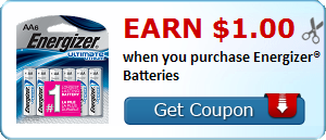 Earn $1.00 when you purchase Energizer® Batteries