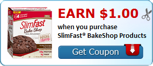 Earn $1.00 when you purchase SlimFast®BakeShop Products