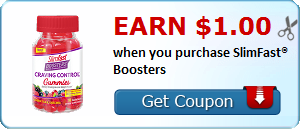 Earn $1.00 when you purchase SlimFast® Boosters