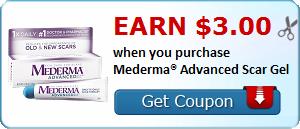 Earn $3.00 when you purchase Mederma® Advanced Scar Gel
