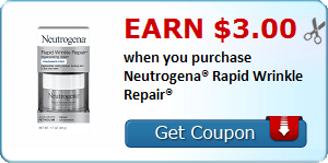 Earn $3.00 when you purchase Neutrogena® Rapid Wrinkle Repair®