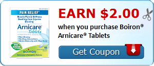 Earn $2.00 when you purchase Boiron® Arnicare® Tablets