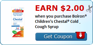 Earn $2.00 when you purchase Boiron® Children's Chestal® Cold & Cough Syrup