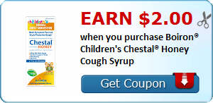 Earn $2.00 when you purchase Boiron® Children's Chestal® Honey Cough Syrup