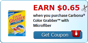 Earn $0.65 when you purchase Carbona® Color Grabber™ with Microfiber