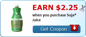 Earn $2.25 when you purchase Suja® Juice